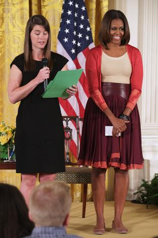 Michelle at the White House's annual Take Our Daughters and Sons to Work Day at the White House in 2014.