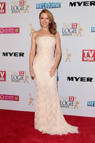 Dressed in a Roberto Cavalli gown, Kylie looked stunning at the 2014 Logies.