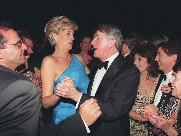 Dancing with Princess Diana in 1996.