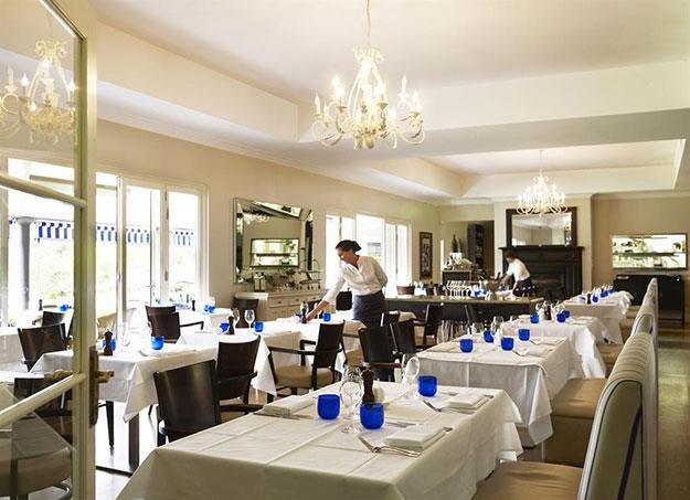 The dining room at Manfredi at Bells.