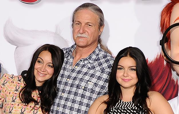 Ariel Winter on the red carpet in March with her sister, Shanelle Grey and father, Glenn Workman.