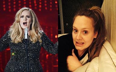 Adele's no makeup selfie and new album