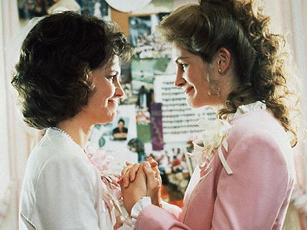 "**'Steel Magnolias' 1989:** Cue the waterworks. Steel Magnolias, starring Julia Roberts, Sally Field, Shirley MacLaine, Dolly Parton and other A-List actors follows the small town story of some Louisiana ladies. As this gossipy group moves through weddings, births and funerals this female feel-good film shows us that the bond between girlfriends, mothers, and daughters is unwavering. Clairee Belcher: ""Well, you know what they say: if you don't have anything nice to say about anybody, come sit by me!"""