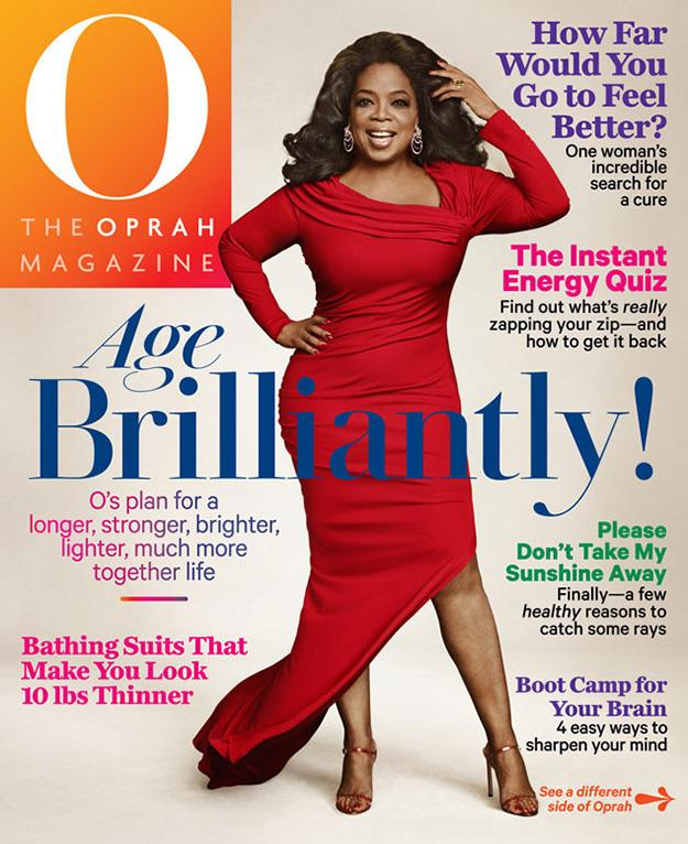 The new cover featuring Oprah. Photo: Ruven Afanador/O Magazine