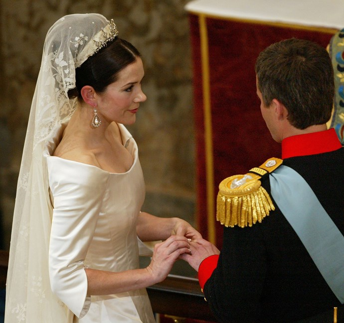 Princess Mary and Prince Frederik exchange vows.