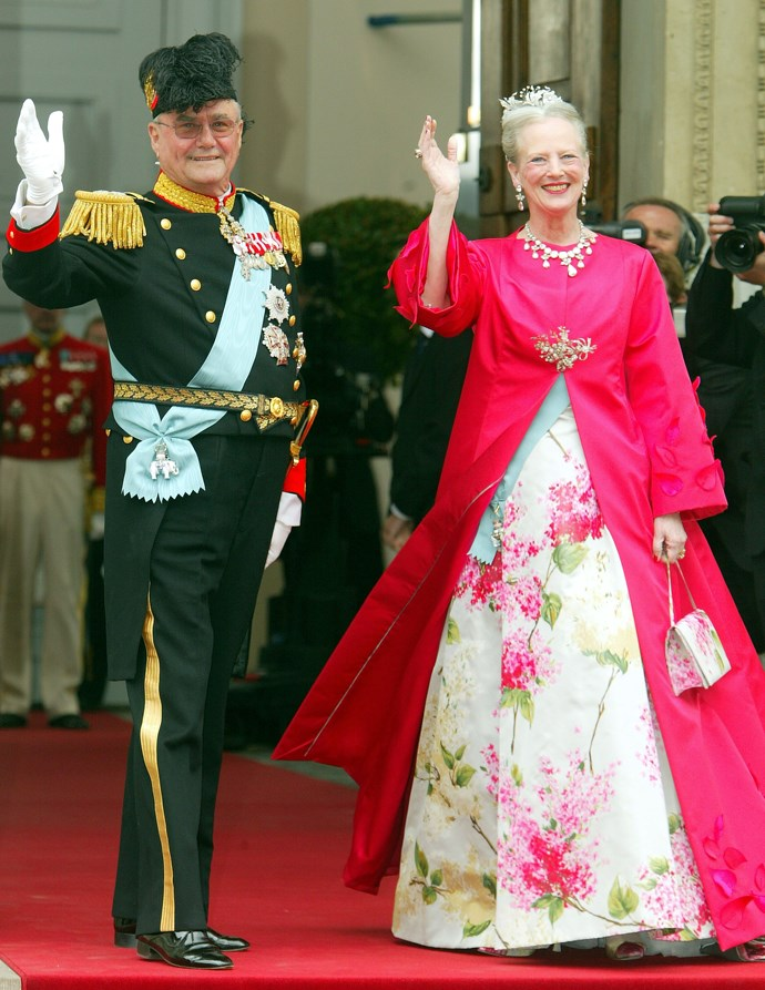 Queen Margrethe and Prince Henrik at the wedding.