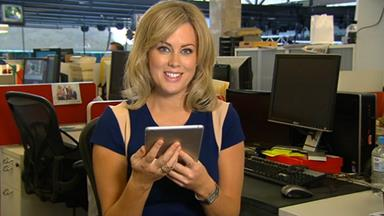Samantha Armytage shows off her thick skin