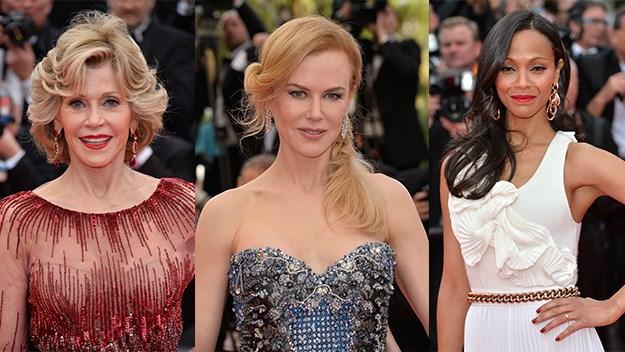 Jane Fonda, Nicole Kidman, Zoe Saldana