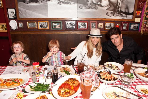 Wildcard Charlie Sheen and his wife, Brooke Mueller have two twin boys, Bob and Max, born in 2009.