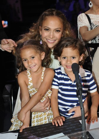 Singer Jennifer Lopez and ex-husband Marc Anthony have twins Maximilian and Emme, born in 2008.