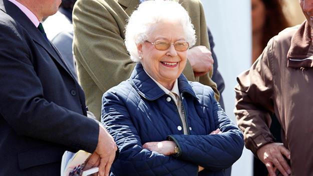 Queen Elizabeth casual and smiling