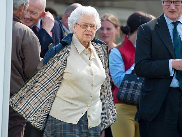 The Queen's appearance was very different from the formal dress for races such as Ascot and the Epsom Derby. Photo: Indigo