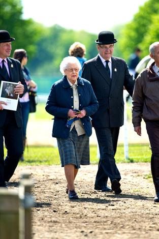The Queen was relaxed as she moved through the crowds. Photo: Getty