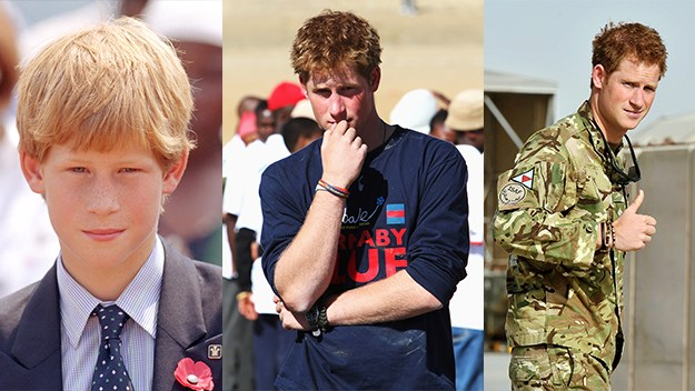 Prince Harry then and now