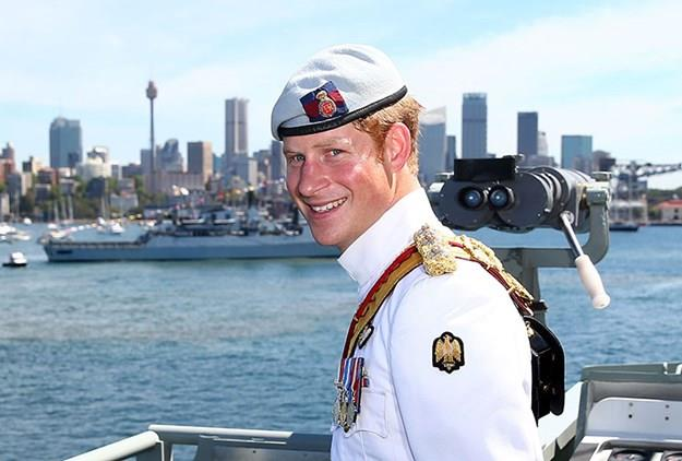 Harry visited Sydney in 2013 to celebrate 100 years since the Royal Australian Navy fleet first entered the waterway.