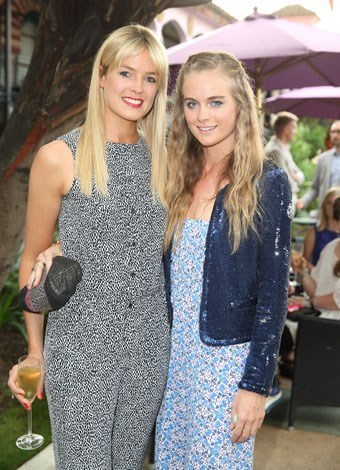 Cressida with her half-sister Isabella Calthorpe in June 2013.