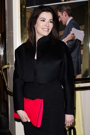 A happier Nigella attended the 'Fatal Attraction' premiere at Theatre Royal in London in March.