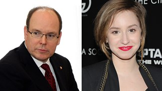 Prince Albert of Monaco and his daughter Jazmin Grace Grimaldi.