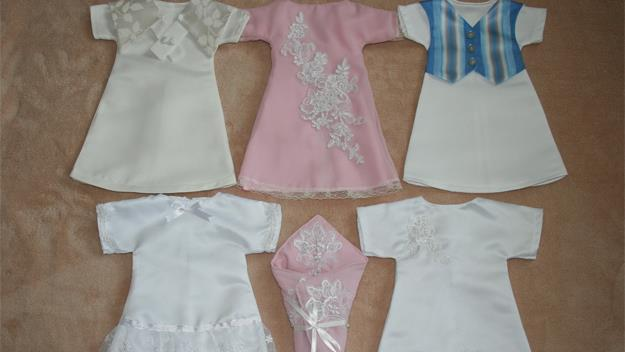 Beautiful Angel Gowns made by Sandra Bartolo and Joanne Kraljevic.