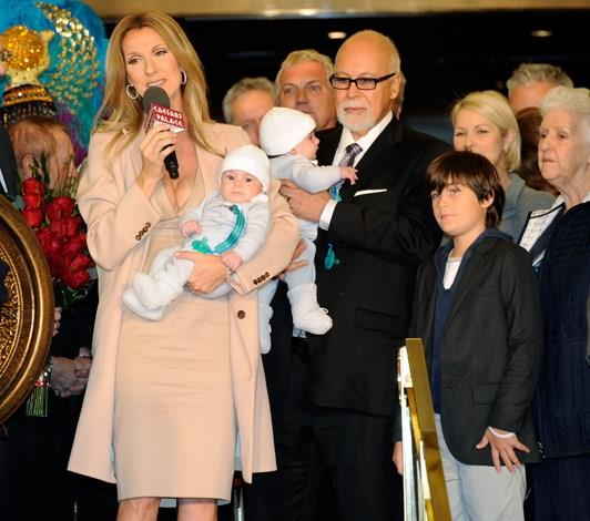 Celine Dion gave birth to twins, Nelson and Eddy, in October 2010 when she was 42.