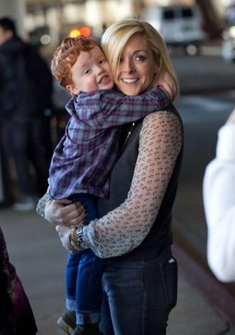 Jane Krakowski welcomed son Bennett into the world at age 42 in April 2011.