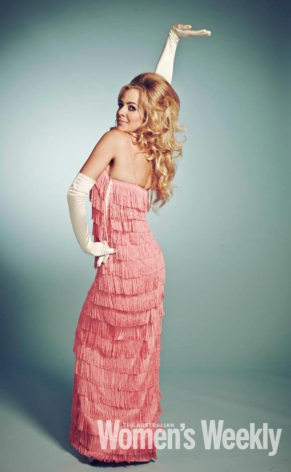 Jessica Marais poses as Carlotta.