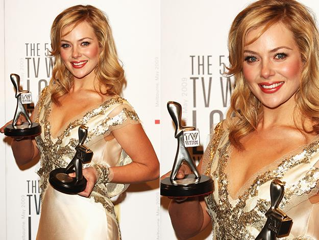 Jessica cleans up at the 2009 Logies winning Most Popular New Female Talent and The Graham Kennedy Award For Most Outstanding New Talent.