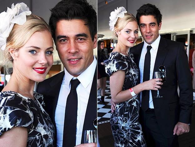 Jessica and James Stewart make a handsome couple at the Emirates marquee at Royal Randwick in 2010.