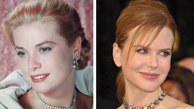 Grace Kelly and Nicole Kidman.