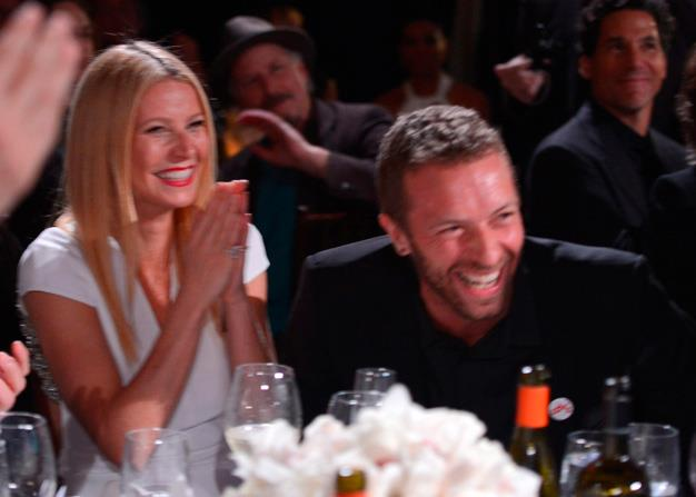 "Gwyneth Paltrow and Chris Martin attend the 3rd annual Sean Penn & Friends Help Hatiti Home Gala in January before the pair announced their ""conscious uncoupling""."