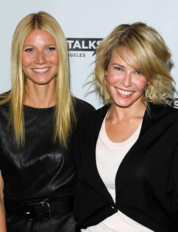 In an unlikely move, loud-mouthed talk show host Chelsea Handler has worked her way into Gwyn's inner circle.