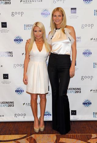 The star and her celebrity trainer, Tracy Anderson.