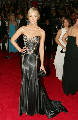 Jessica was dazzling at the Logie Awards in 2010 in this detailed strapless gown.