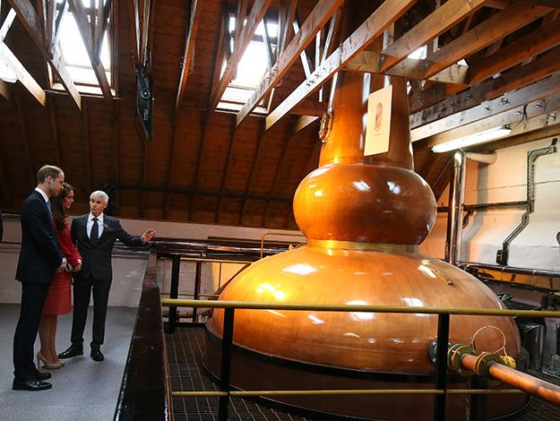 The Duke and Duchess are shown the Still Room by Neil Cameron.