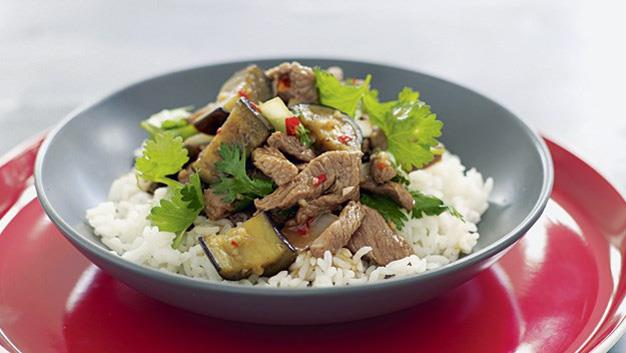 Thai Lamb, eggplant and coriander [Click here for the recipe](http://www.aww.com.au/food/recipes/2009/5/thai-lamb,-eggplant-and-coriander)