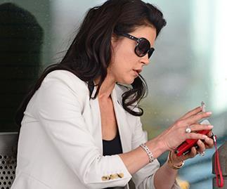 Catherine Zeta-Jones smoking