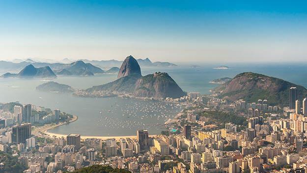 The view of Rio de Janeiro.