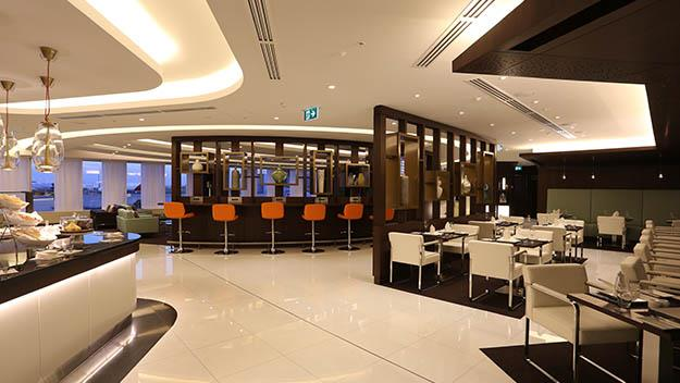 Etihad's brand new first and business class lounge at Sydney airport.