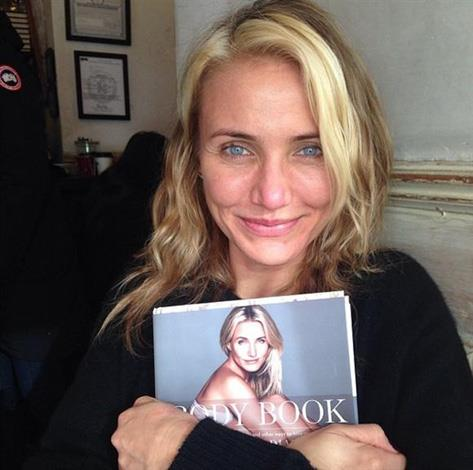 """Cameron Diaz was too excited to sit still in a makeup chair when she revealed her book on social media. """"One of my proudest moments! Receiving the first bound copy of The Body Book!! @thebodybook LADIES!! I wrote this book for YOU and YOUR BODY,"""" wrote Diaz alongside the snap."""