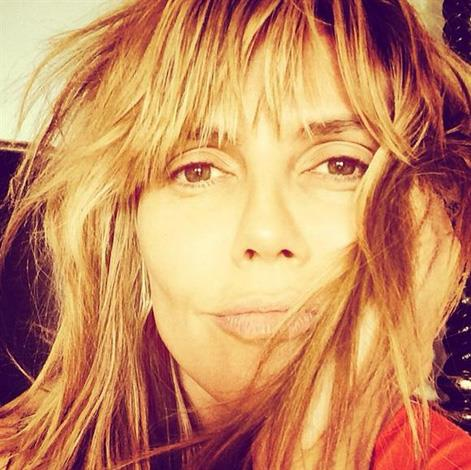 """""""Good morning"""" wrote Heidi Klum who literally woke up looking this gorgeous!"""