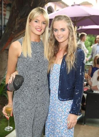 Stylish sisters: Cressida with her half-sister Isabella Calthorpe in June 2013.