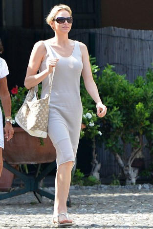 Princess off-duty: Charlene spotted summering in Portofino, Italy.