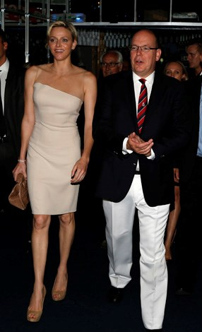 Keeping it chic and simple at the Monte-Carlo Million Dollar Super Four boxing event in July 2013.