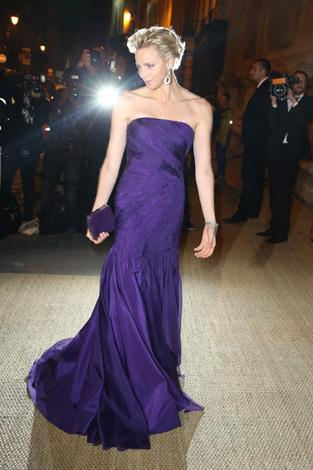 The royal dazzled in this lilac gown at a Ralph Lauren Collection Show and private dinner in Paris, 2013.
