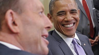 """Obama tells Abbott, """"You work too hard"""""""