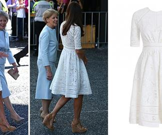 The Duchess wears the dress to the Royal Easter Show