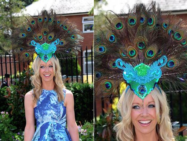 Designer Anouska Lancaster opted for a peacock feather design which brings a classic feel to the novel shape.