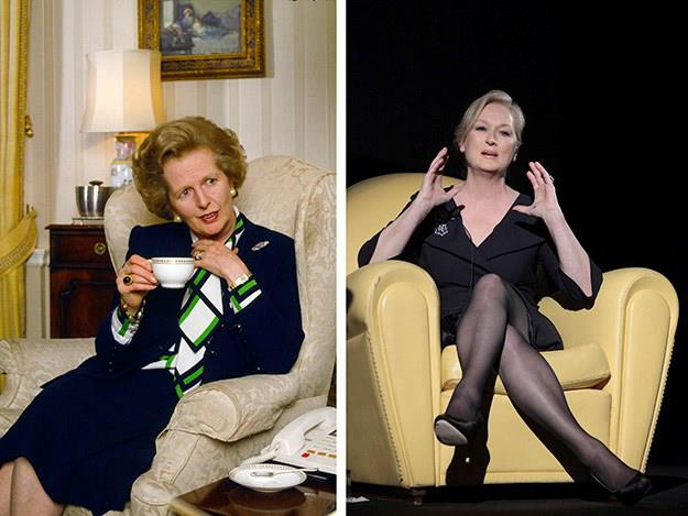 In The Iron Lady Streep depicted Margaret Thatcher, Britain's first and so far only female Prime Minister.
