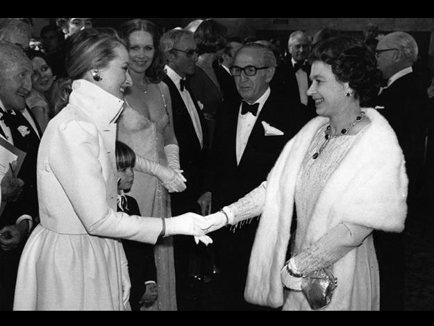Meeting Queen Elizabeth in 1980.