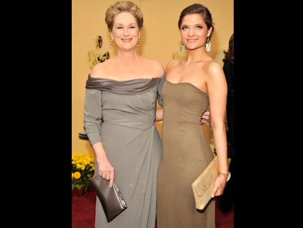 With her daughter Louisa Jacobson Gummer at the 81st Annual Academy Awards.
